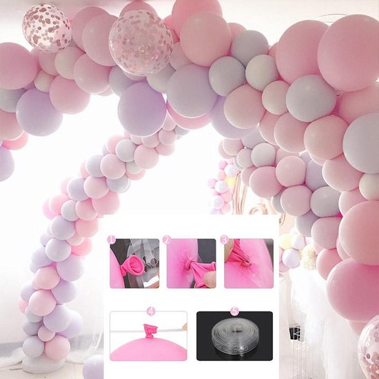Cabantis Ballonboog Rol 410 gaten|Babyshower|Gender reveal|Feestboog|Ballonnen & Accessoires|5 meter