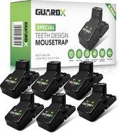 GuardX® 6x Kunststof Muizenval - Teeth Design - Ongediertebestrijding - Rattenval voor binnen en buiten - Muizenklemmen set