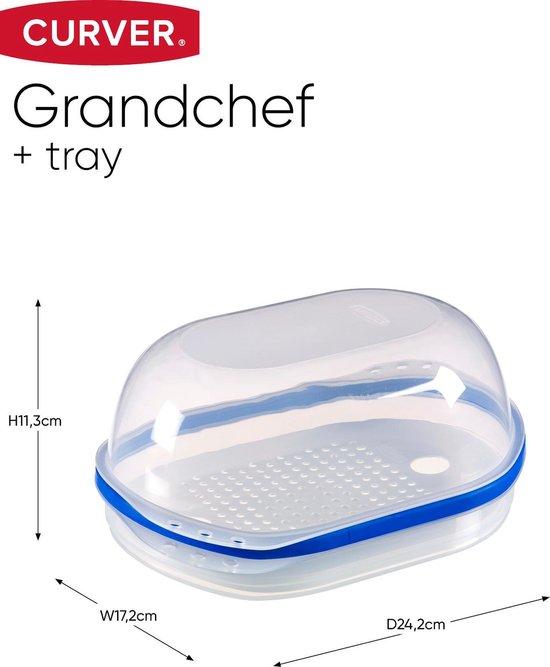 Curver Grandchef Kaasdoos - Met Tray - Transparant/Blauw