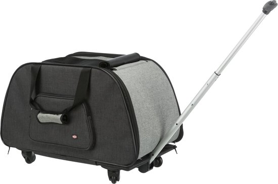 Trixi - Hondentrolley - 34 × 43 × 67 cm - Tot 21 kg - Zwart/grijs