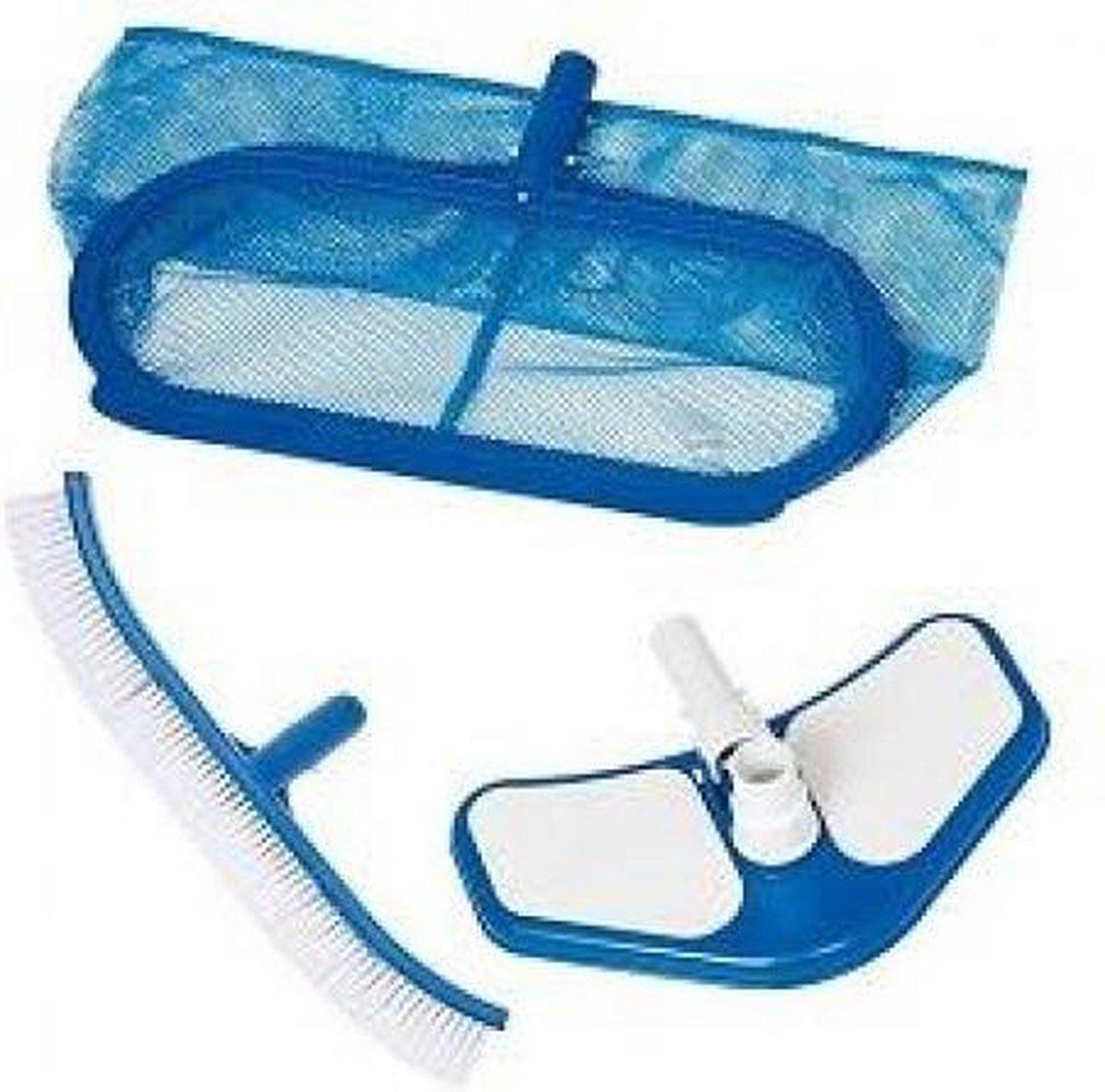Intex Luxe Schoonmaakset Zwembad | schoonmaak onderdelen zwembad |Skimmernet | Wandborstel | vacuumborstel | voor 29.8 mm steel