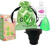 De Groene Cup Model IV - low cervix (kort) - Helemaal klaar pakket