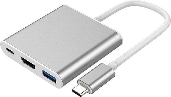 USB-C 3 in 1 Adapter - USB-C Hub naar 4K HDMI - USB3.0 en USB C