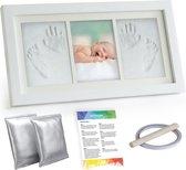 RX Goods® Baby Fotolijst met Klei Voetafdruk & Handafdruk – Kraamcadeau Babyshower – Geen Gips, Inkt