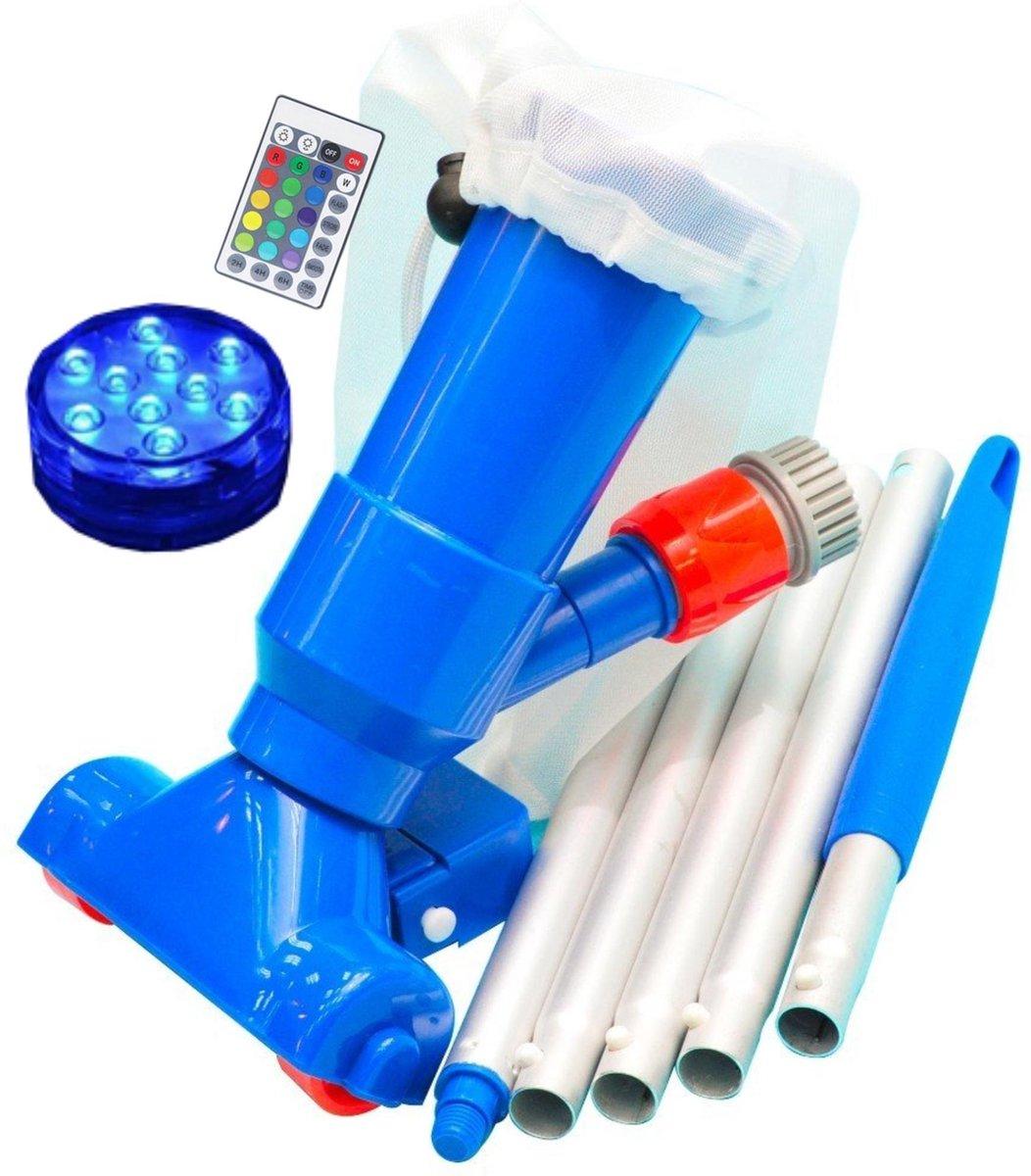 Zwembad Stofzuiger Inclusief Steel en LED Lamp met afstandsbediening - Zwembadstofzuiger voor Zwembad Onderhoud - Ecomtrends®