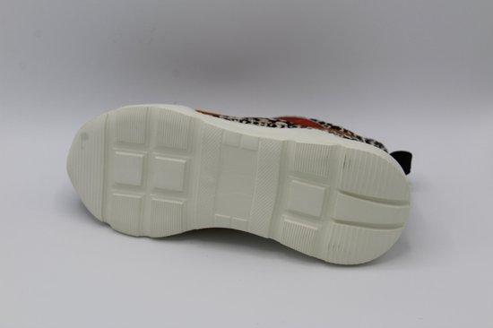 Muoviti sneaker- dierenprint zwart- breedte H- maat 37