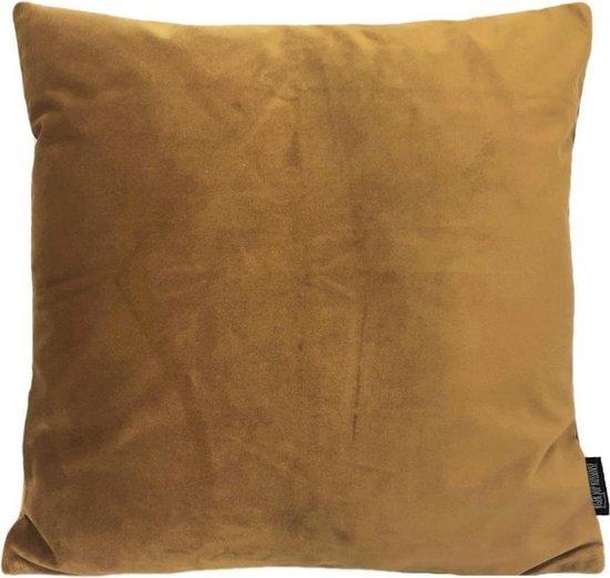 Velvet Gold Kussenhoes | Fluweel - Polyester | 45 x 45 cm | Goud/Bruin