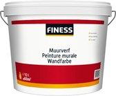 Finess MUURVERF - Goed dekkende, licht afwasbare, matte, witte muurverf. Ademend en reukarm. Voor het afwerken van muren en plafonds. - WIT - 10+2L