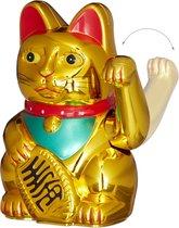 relaxdays - Maneki Neko - zwaaiende kat - geluksbrenger Chinese kat - gelukskat