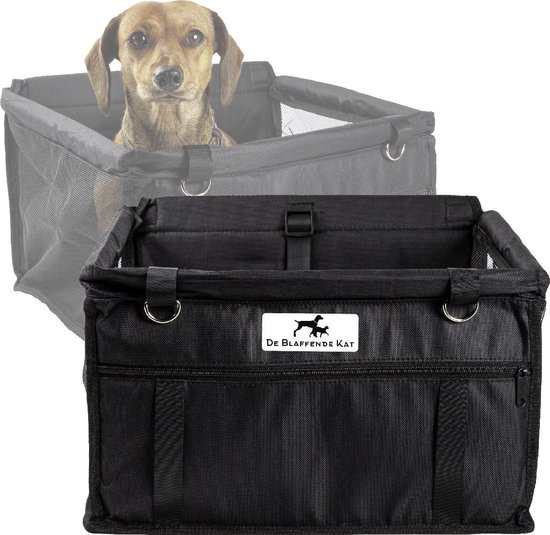 Opvouwbare autostoel hond   Inclusief gratis E-Book - Luxe autozitje   Hondenzitje   Auto bench hond   Honden autostoel   Puppyzitje   Hondendeken auto achterbank   Hondenmand   Hondenkleed   Zwart