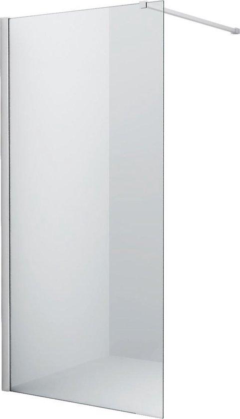 Inloopdouche Eco Nano 80x200cm Antikalk Helder Glas Chroom Profiel 8mm Veiligheidsglas Easy Clean