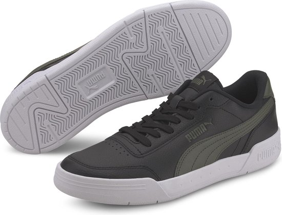 PUMA Caracal Sneakers Heren - Puma Black-Thyme - Maat 45