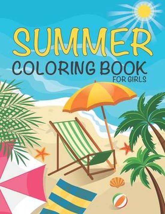 Summer Coloring Book For Girls