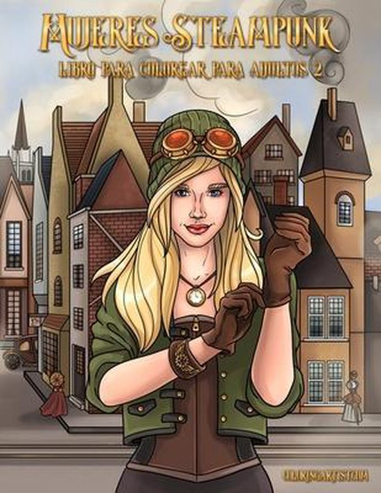 Mujeres Steampunk libro para colorear para adultos 2