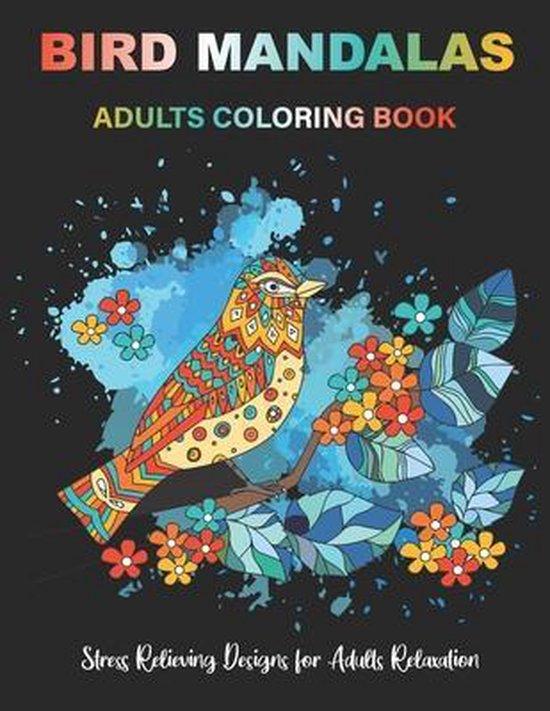 BIRD MANDALAS Adults Coloring Book
