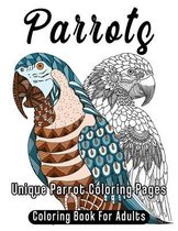 Parrots Coloring Book For Adults