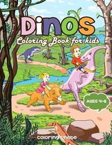 Dinos Coloring Book for kids Ages 4-8