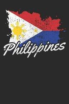 Notebook: Philippines Vintage Gift Dot Grid 6x9 120 Pages