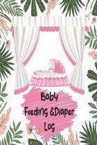 Baby Feeding And Diaper Log: Record Daily Feeding: Time, Amount, Duration, Diapers Perfect for New Parents or Nannies: Pink Floral Baby Daily Log B
