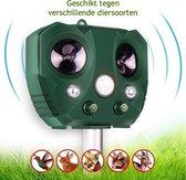 Kattenverjager - Kattenschrik - Ongedierte verjager - Marterverjager - Verdrijft Katten - Honden en Kattenschrik - Zonne Energie en Batterijen - Bewegingssensor - USB Lader