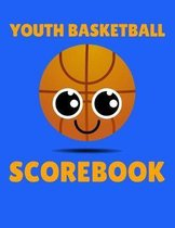 Youth Basketball Scorebook: 50 Game Scorebook for Basketball Games - Scoring by Half