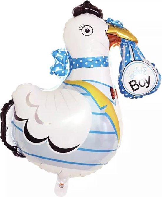 Ooievaar-BabyBoy-Groot-Folie-Ballon
