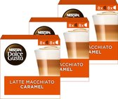 NESCAFÉ® Dolce Gusto® Caramel Latte Macchiato Koffiecups - 3 doosjes à 16 capsules geschikt voor 24 koppen