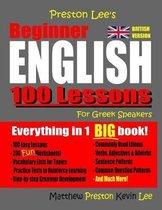 Omslag Preston Lee's Beginner English 100 Lessons For Greek Speakers (British)