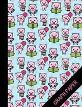 Pig: Graph Paper Composition Notebook For Kids, Perfect For Math An Science, Quad Ruled Notebook