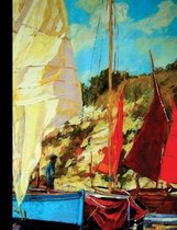 Sail Boating Composition Notebook, College Ruled_100 sheets-200 pages_9.75'' x 7.