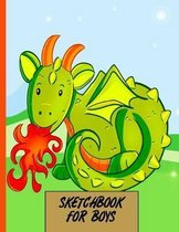 Sketchbook For Boys: Sketch Book Gift for Adults, Kids, Girls and Boys