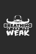 Breathing is weak: 6x9 Swimmingl - grid - squared paper - notebook - notes