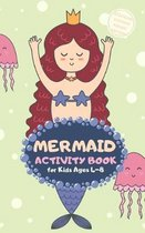 Mermaid Activity Book for Kids Ages 4-8 Stocking Stuffers Pocket Edition: Princess Theme A Fun Kid Workbook Game for Learning, Coloring, Mazes, Sudoku