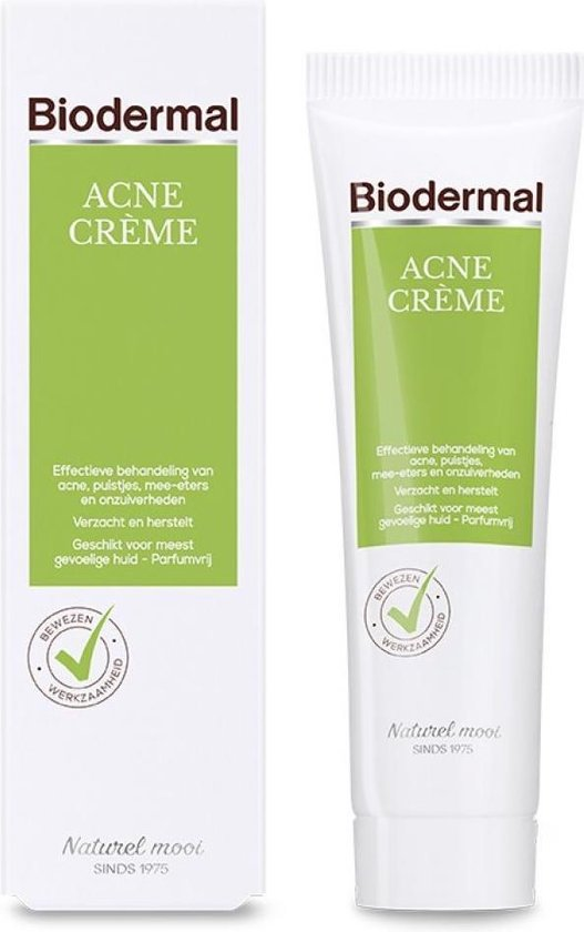 Biodermal Crème bij puistjes en onzuiverheden Dagcrème - 30ml
