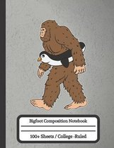 Bigfoot Composition Notebook: Composition Notebook for Penguins Lovers