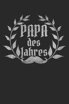 Papa Des Jahres: A5 Notebook Kariert Karo f�r Papa - Vater - Dad - Stiefvater - Stiefpapa - Geburtstag - Vatertag - Lustig - Spruch - G