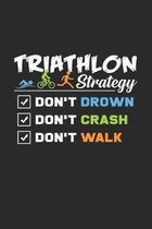 Triathlon Strategy: 6x9 Triathlon - dotgrid - dot grid paper - notebook - notes