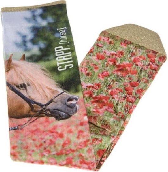 Stapp Horse Kniekous Flower Print Ruitersokken paarden print - maat 35/38