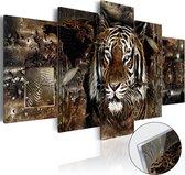 Meubella - Afbeelding op acrylglas Guard of the Jungle - 100x50 - 5-luik