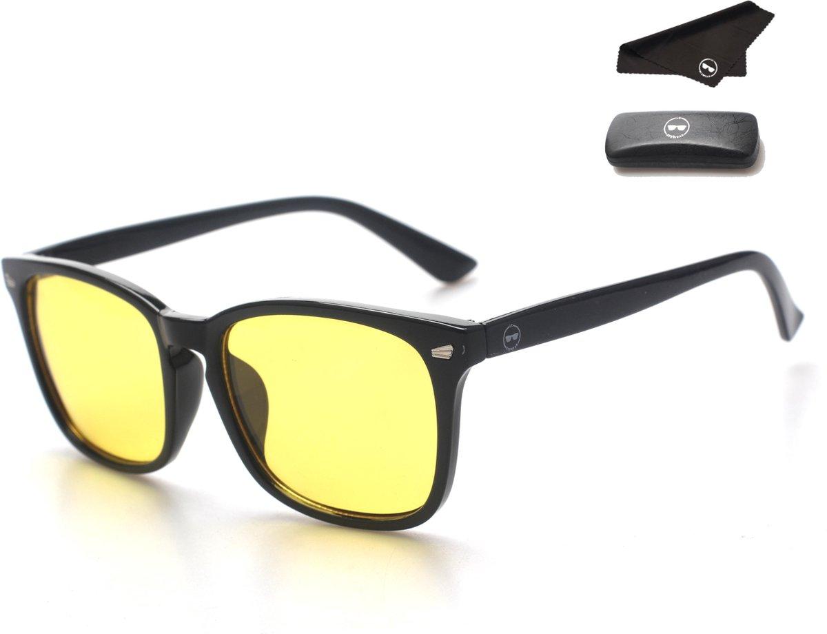 LC Eyewear Computerbril - Blauw Licht Bril - Nachtbril - Blue Light Glasses - Unisex - Zwart