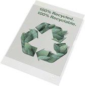 Esselte 100% Gerecyclede PP Zichtmappen a4 - Insteekhoezen - 100 stuks - Transparant