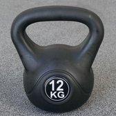 Kettlebell 12 kg voor binnen en buiten Kunststof Zwart