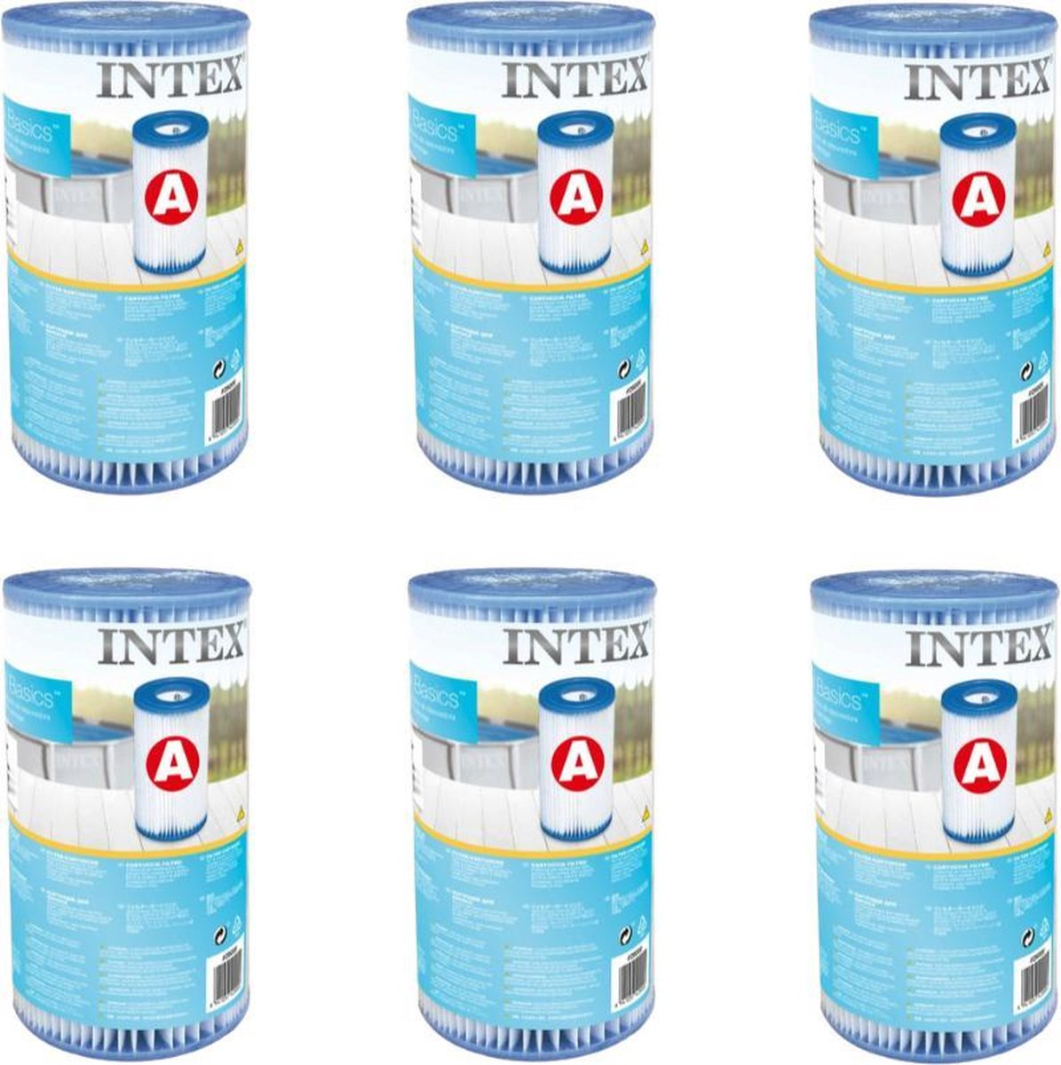 Intex 6x Filter A - Zwembadfilter