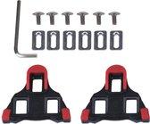 Schoenplaatjes SPD-SL Rood zonder Speling Geschikt voor Shimano SPD SL pedalen