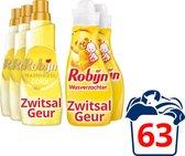 Robijn Zwitsal Wasmiddel en Zwitsal Wasverzachter - 60 wasbeurten - Voordeelverpakking
