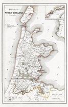 Textielposter Kaart van Noord-Holland 1865