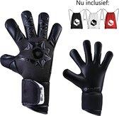 Elite Neo Black Keepershandschoenen - Maat 7 - Inclusief Witte, Rode en Witte Rugtasje + Calavera Sleutelhangertje
