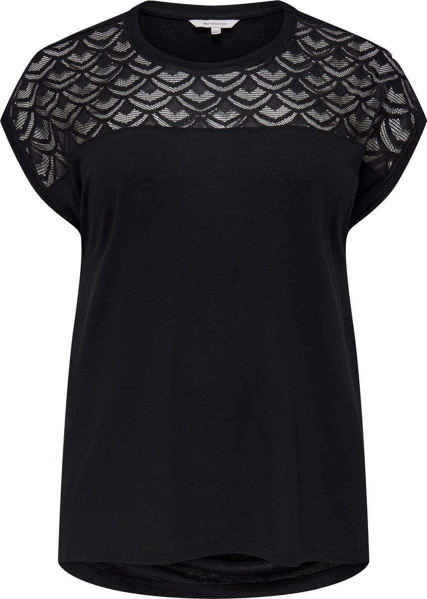 Only Carmakoma Flake Dames T-shirt - Maat 42-44