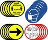 Corona sticker set - 4 x 5 stuks - Keep your distance - Houd afstand - Richting - Regels - Mondkapje Verplicht - RIVM - COVID-19 - 14cm