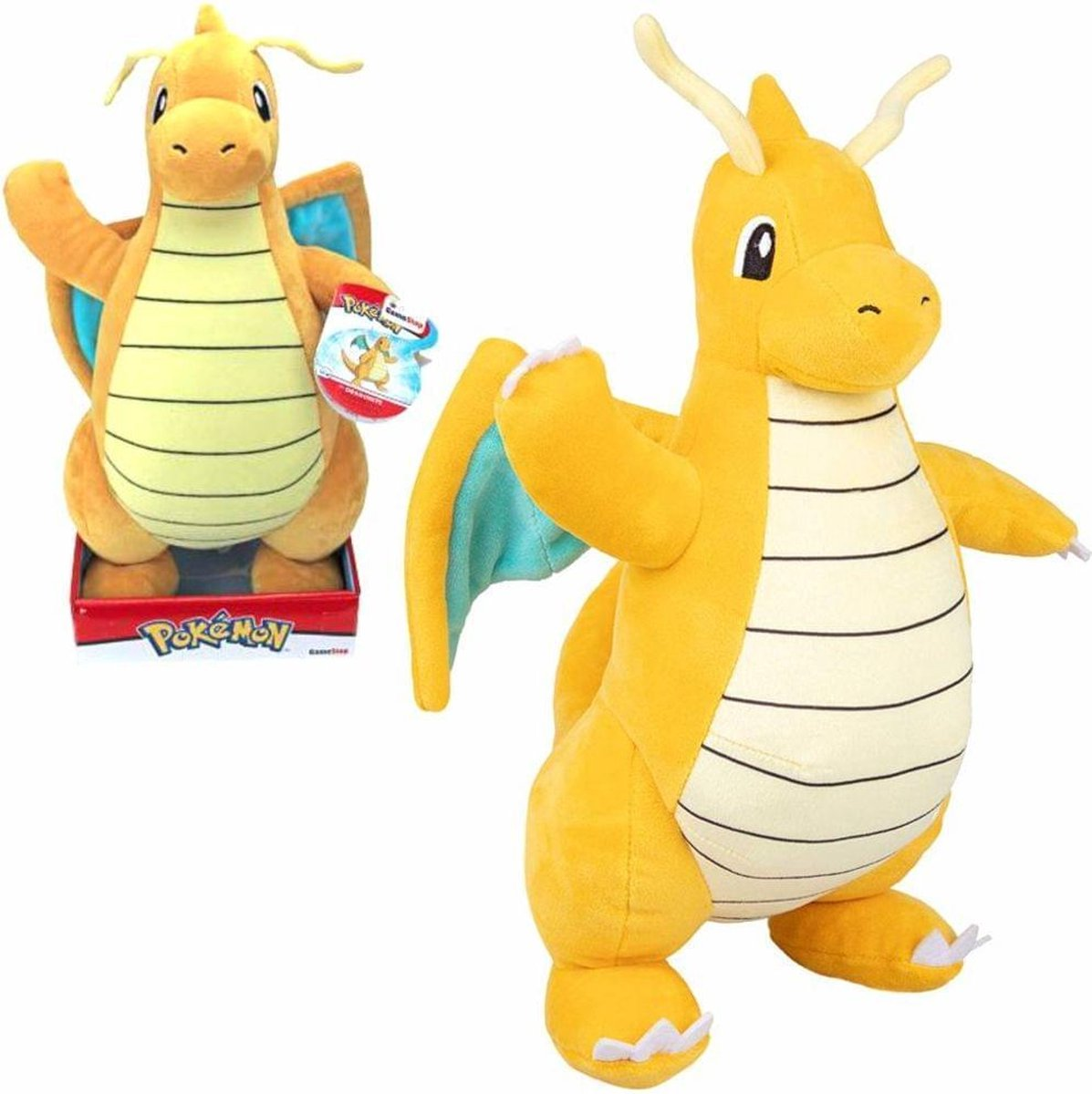 Pokémon Pluche - Dragonite Knuffel 32 cm - Charmander - Charizard - Dragon - Draak - Dragonite